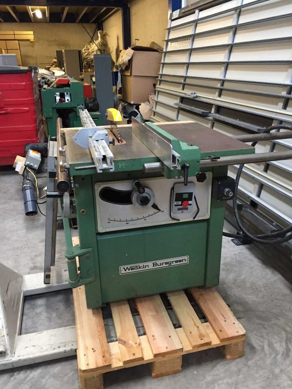 Used Wadkin Rip Saw with sliding table